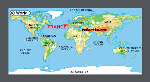 Antarctica On World Map by Map Of France On World Map Travel