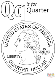 coloring pages quarter letter q is for quarter coloring page free printable coloring pages