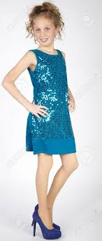 pretee models elegant preteen girl in dress and heels stock photo picture and