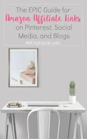 how to use amazon affiliate links on pinterest social media and