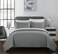 geometric pattern bedding chic home amandla 3 piece quilt set geometric pattern bedding grey