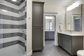 Gray Bathroom Decorating Ideas Bathroom Interior Charcoal Grey Washstand White And Gray Striped