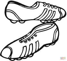 sneakers to play football coloring page free printable coloring