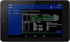 android shell commands qute command console terminal emulator android apps on