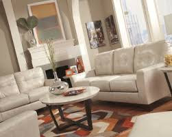 Ashley Sofa Leather by Ashley Furniture Taupe Blended Leather Sofa