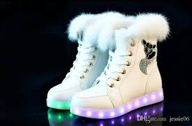 light shoes for women shoes fashion led winter snow boots led glowing shoes women usb