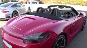 pink convertible porsche porsche boxster 2 7 2dr pdk u4339 youtube