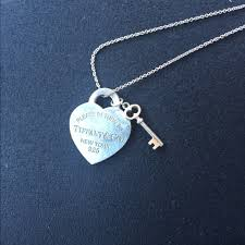 key heart necklace tiffany images Tiffany co jewelry tiffany co medium heart tag w key pendant jpg