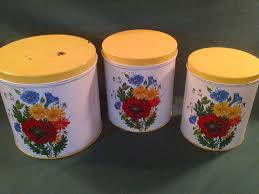 vintage kitchen canister set nc colorware canisters 1950 s floral canister canister set nc