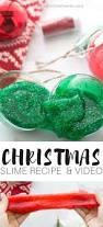 make christmas slime recipe easily with tinsel glitter for kids