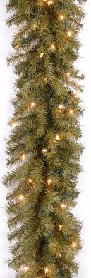 lighted christmas tree garland pre lit nor wood fir green christmas tree garland holiday decor 10 x
