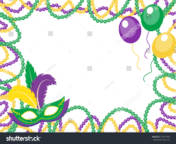 mardi gras picture frame mardi gras colored frame mask stock vector 539257495