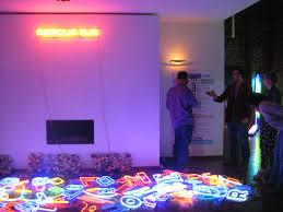 neon lighting for home simon tyszko modern neon lights rolling plinth