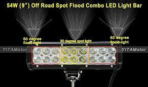 2 inch led spot light yitamotor 2 x 54w 9 inch led spot flood combo work light bar 4wd