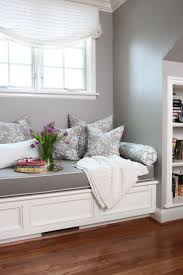 best 25 window seat cushions ideas only on pinterest large seat dark grey with light edge binding cushion on a white bench