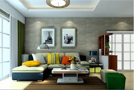 wallpaper livingroom interior of living room wall front view 3d house