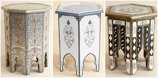 Moroccan Side Table White Bazaar Interior Inspiration Moroccan Tables