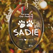 pet memorial ornament forever in our hearts