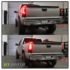 99 02 Silverado 99 06 Sierra Red Smoked C Shape Led Tail Lights