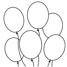 alligator and birthday balloons coloring page for kids holiday