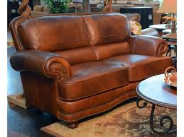 lg interiors cowboy cowboy leather loveseat great american home