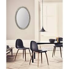 30 in x 42 in dark brown non beveled framed wall mirror f7643r