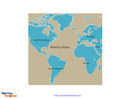 Asia Continent Map by Free Atlantic Ocean Map Template Free Powerpoint Templates