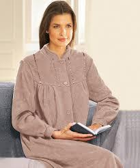 robes de chambres femmes robe de chambre en molleton polaire 130 cm vison femme damart