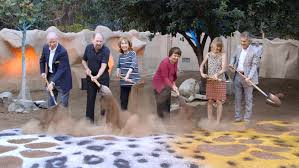 through golden eyes zoo breaks ground on leopard exhibit