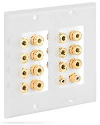 7 2 home theater sound distribution wall plate with gold plated 7 pair copper
