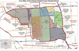 Houston Map Zip Codes by Heights Real Estate Investor Agent