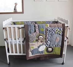 boy crib bedding set baby quilt embroidery 3d cartoon animal bear