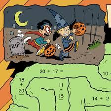 halloween addition worksheet generator create infinite math