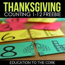 thanksgiving math centers education to the