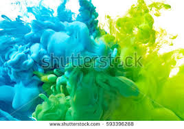 blue green paint splash isolated on stock photo 593396288