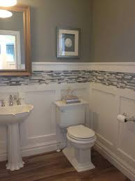 Bathroom With Wainscoting Ideas Bathroom Lowes Seven Panel Decorating Wainscoting Bathroom Blue