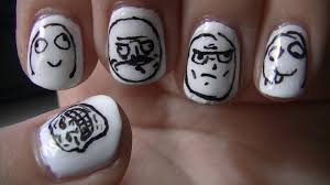 Nail Art Meme - meme face nail art youtube