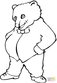 brown bear illustration coloring free printable coloring pages