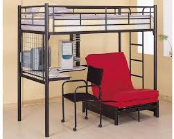 coaster twin bunk bed with futon chair desk and futon co2209 2335m
