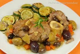 cuisiner du veau en morceau jarret de veau aux citrons confits et aux olives péché de gourmandise