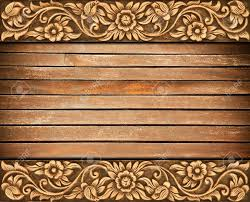 Wood Carving Designs Free Download by Pattern Of Wood Frame Carve Flower On Wood Background Stock Photo