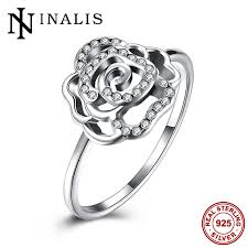 sted rings inalis genuine 925 sterling silver jewelry sparkling cz inlaid