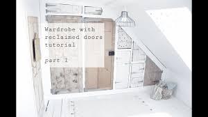 wardrobe with reclaimed doors tutorial part 1 youtube