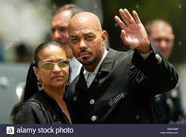 debbie allen and husband norm nixon at the first ame church for