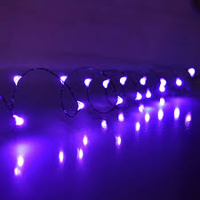 10 ft purple led multi function micro string lights battery