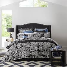 bedroom circles squares charcoal beding by kinglinen for bedroom