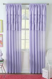 piper purple polka dot window panel