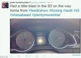 audi a5 top speed syndercombe boasts he drove audi a5 at the speed
