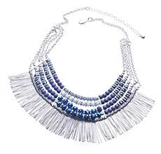 bib necklace beaded images Ethnic tribal boho beads statement necklace fringe bib jpg