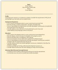 Example Of Profile On Resume by Resume Employment Gaps Free Resume Example And Writing Download